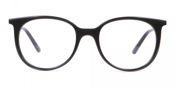 Calvin Klein CK19508 Unisex Black Classic Round Glasses-1