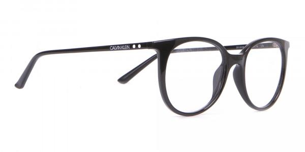 Calvin Klein CK19508 Unisex Black Classic Round Glasses-2