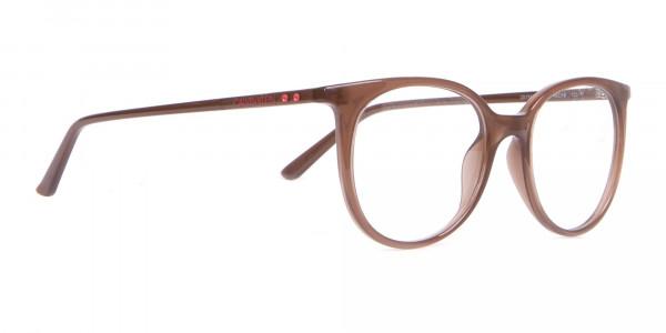 Calvin Klein CK19508 Milky Brown Classic Round Glasses-2