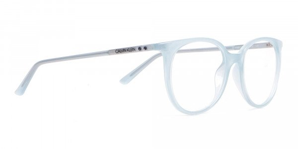 Calvin Klein CK19508 Milky Blue Classic Round Glasses-2