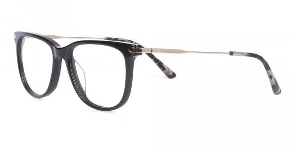 Calvin Klein CK19704 Wayfarer Glasses In Glossy Black-3