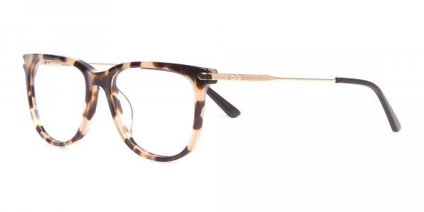 Calvin Klein CK19704 Wayfarer Glasses In Khaki Tortoise-3