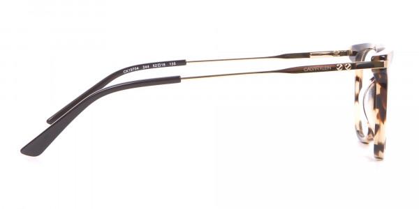 Calvin Klein CK19704 Wayfarer Glasses In Khaki Tortoise-4