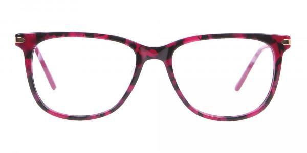 Calvin Klein CK19704 Wayfarer Glasses In Berry Tortoise-1