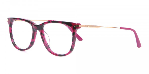 Calvin Klein CK19704 Wayfarer Glasses In Berry Tortoise-3