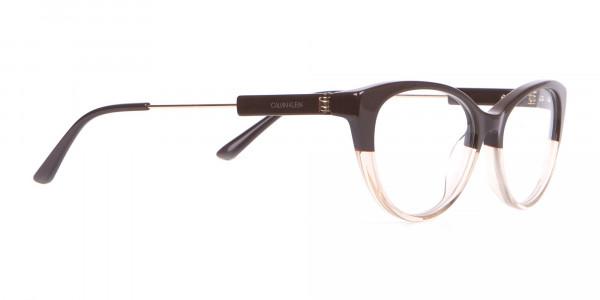 Calvin Klein CK19706 Women Two Tone Cat-Eye Glasses Brown-2