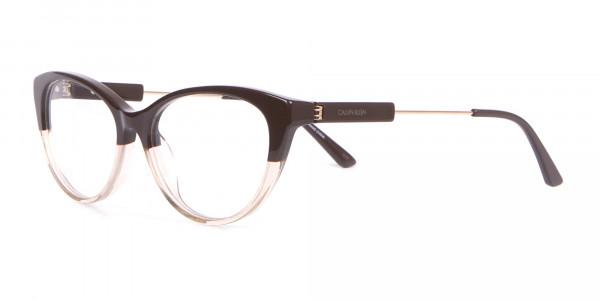 Calvin Klein CK19706 Women Two Tone Cat-Eye Glasses Brown-3