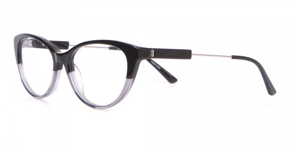 Calvin Klein CK19706 Women Two Tone Cat-Eye Glasses Black-3