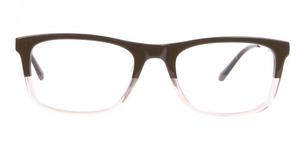 Calvin Klein CK19707 Two-Tone Rectangular Glasses In Brown-1