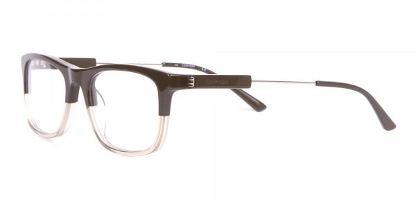 Calvin Klein CK19707 Two-Tone Rectangular Glasses In Brown-3