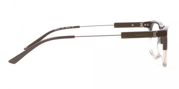 Calvin Klein CK19707 Two-Tone Rectangular Glasses In Brown-4