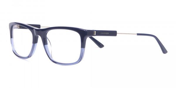 Calvin Klein CK19707 Two-Tone Rectangular Glasses Navy-3