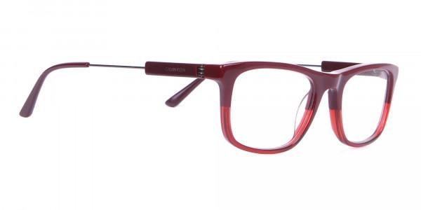 Calvin Klein CK19707 Two-Tone Rectangular Glasses Red-2