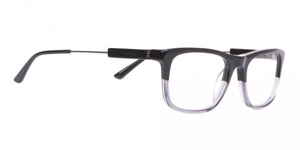Calvin Klein CK19707 Two-Tone Rectangular Glasses In Black-2
