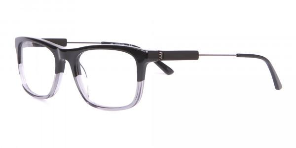 Calvin Klein CK19707 Two-Tone Rectangular Glasses In Black-3