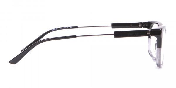 Calvin Klein CK19707 Two-Tone Rectangular Glasses In Black-4