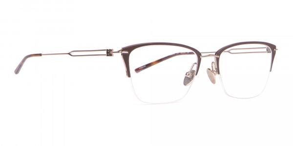 Calvin Klein CK8065 Women Half-Rimmed Glasses Matte Black-2