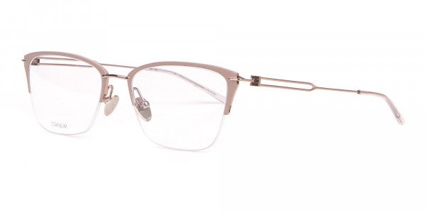 Calvin Klein CK8065 Women Titanium Half-Rimmed Glasses Nude-3