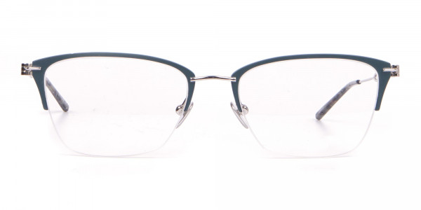 Calvin Klein CK8065 Women Titanium Half-Rimmed Glasses Teal-1