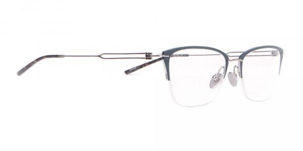 Calvin Klein CK8065 Women Titanium Half-Rimmed Glasses Teal-2