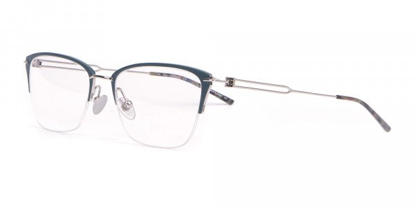 Calvin Klein CK8065 Women Titanium Half-Rimmed Glasses Teal-3