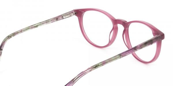 Keyhole Green Marble & Rose Red Frame Eyeglasses - 5
