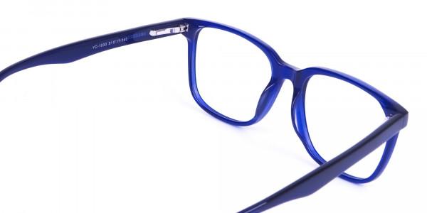 Acetate Navy Blue Wayfarer Glasses Frames - 5