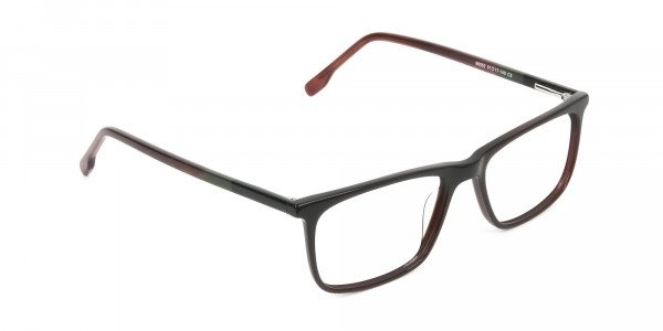 Dark Brown Acetate Spectacles in Rectangular - 2