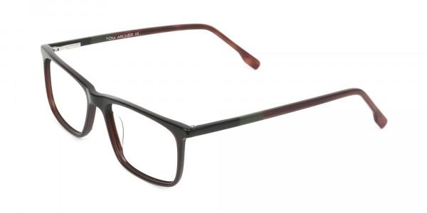 Dark Brown Acetate Spectacles in Rectangular - 3