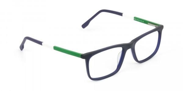 Green & Matte Navy Blue Spectacles - 2