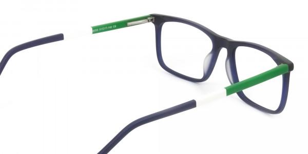 Green & Matte Navy Blue Spectacles - 5