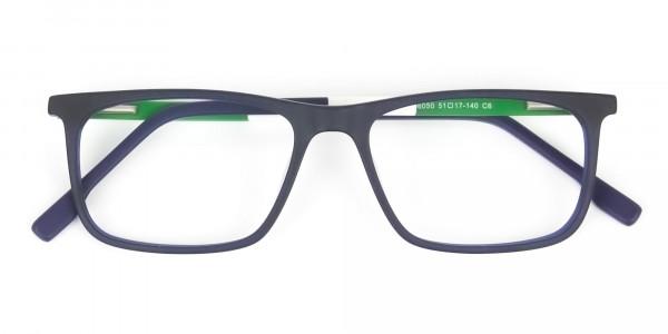 Green & Matte Navy Blue Spectacles - 6