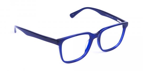 Acetate Navy Blue Wayfarer Glasses Frames - 2