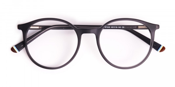 matte-and-dark-grey round-full-rim-glasses-frames-6