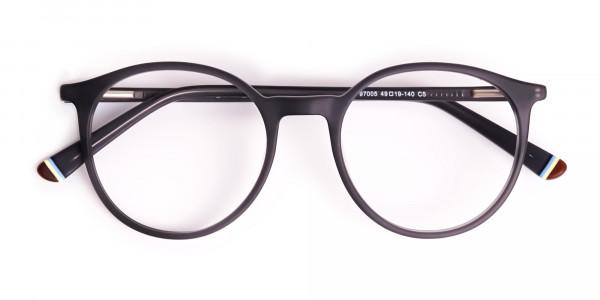 matte-and-dark-grey round-full-rim-glasses-frames-6