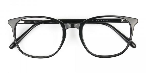 Black Wayfarer Glasses Thin Frame - 6