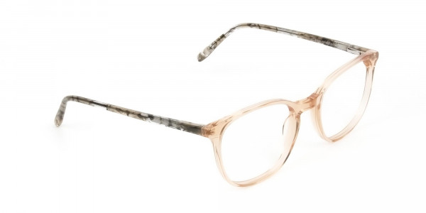 Crystal Brown Glasses with & Grey Amber Marble Temple - 2