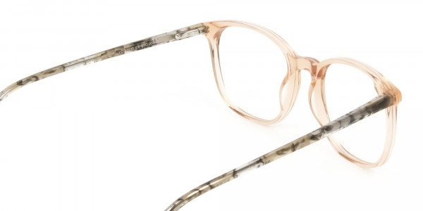 Crystal Brown Glasses with & Grey Amber Marble Temple - 5