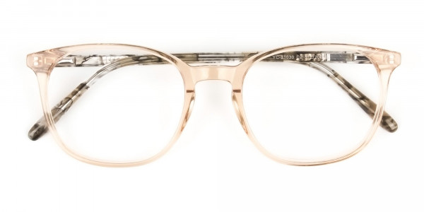 Crystal Brown Glasses with & Grey Amber Marble Temple - 6