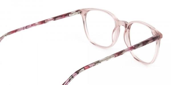 Crystal Pink Eyeglasses in Wayfarer - 5