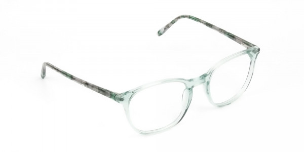 Teal Crysral Green Glasses in Wayfarer - 2