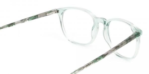 Teal Crysral Green Glasses in Wayfarer - 5