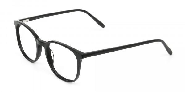 Black Wayfarer Glasses Thin Frame - 3