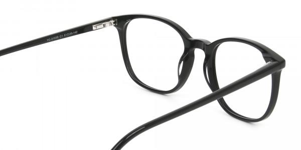 Black Wayfarer Glasses Thin Frame - 5