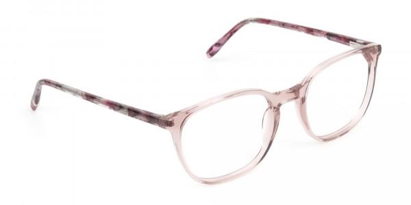 Crystal Pink Eyeglasses in Wayfarer - 2