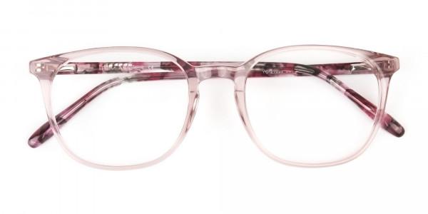 Crystal Pink Eyeglasses in Wayfarer - 6