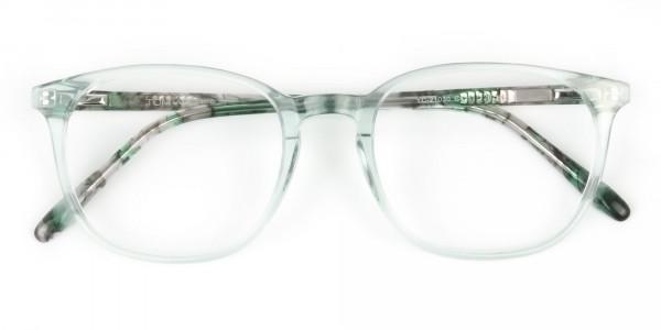 Crysral Teal Green Glasses in Wayfarer - 6