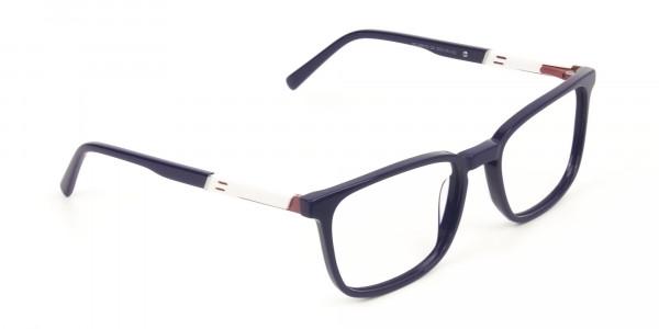 Lightweight Royal Blue Sport Style Rectangular glasses  - 2