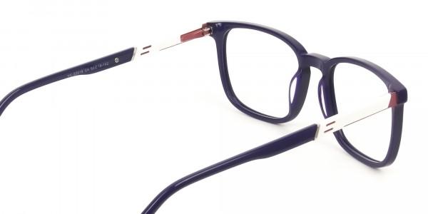 Lightweight Royal Blue Sport Style Rectangular glasses - 5
