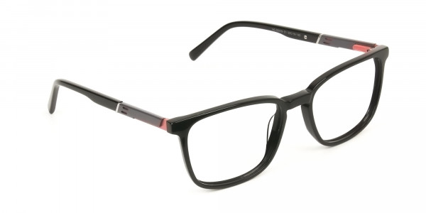 Lightweight Black Sport Style Rectangular Glasses - 2